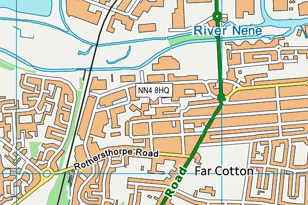 NN4 8HQ map - OS VectorMap District (Ordnance Survey)
