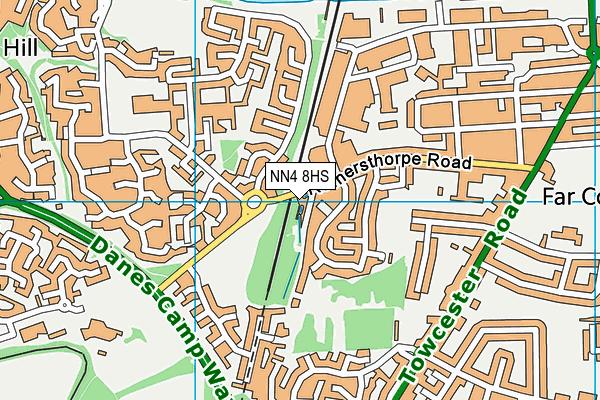 NN4 8HS map - OS VectorMap District (Ordnance Survey)
