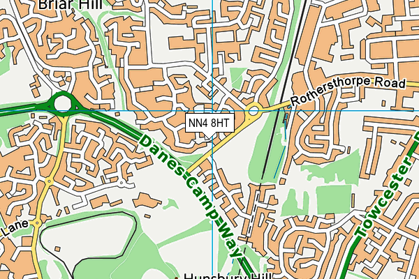 NN4 8HT map - OS VectorMap District (Ordnance Survey)