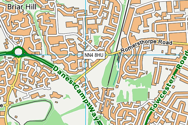 NN4 8HU map - OS VectorMap District (Ordnance Survey)