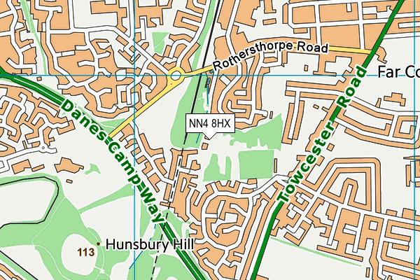 NN4 8HX map - OS VectorMap District (Ordnance Survey)