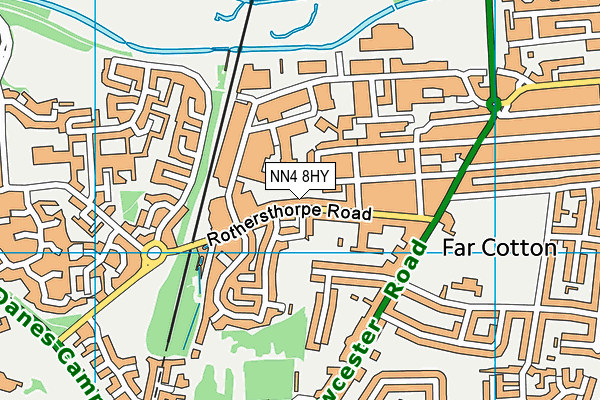 NN4 8HY map - OS VectorMap District (Ordnance Survey)