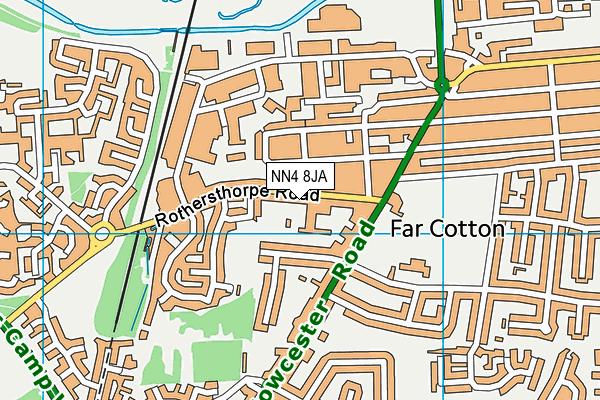 NN4 8JA map - OS VectorMap District (Ordnance Survey)