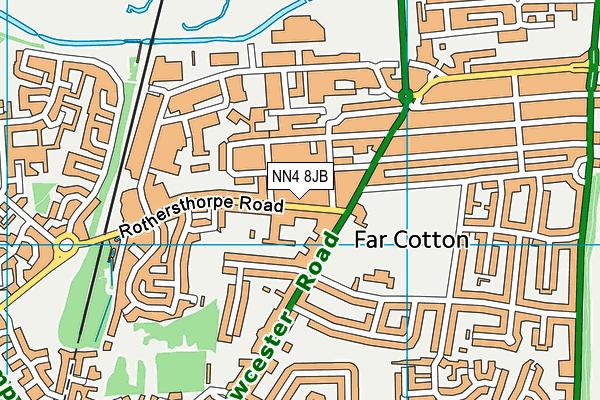 NN4 8JB map - OS VectorMap District (Ordnance Survey)