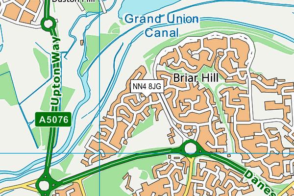 NN4 8JG map - OS VectorMap District (Ordnance Survey)