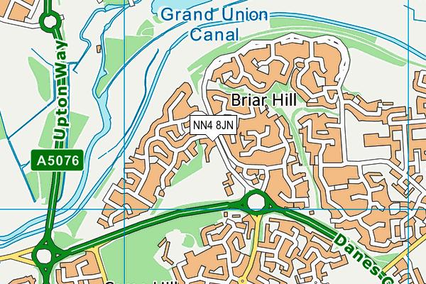 NN4 8JN map - OS VectorMap District (Ordnance Survey)