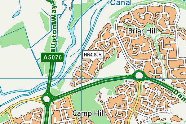 NN4 8JR map - OS VectorMap District (Ordnance Survey)