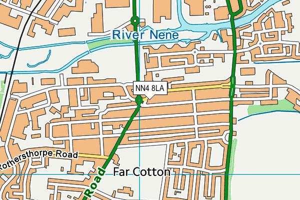 NN4 8LA map - OS VectorMap District (Ordnance Survey)