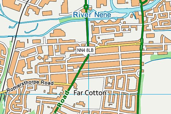 NN4 8LB map - OS VectorMap District (Ordnance Survey)