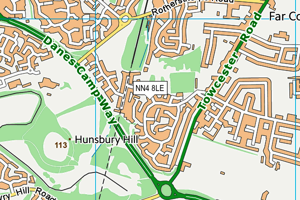 NN4 8LE map - OS VectorMap District (Ordnance Survey)