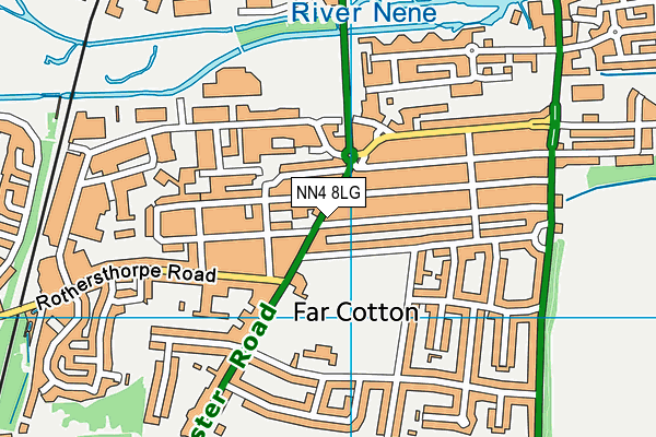 NN4 8LG map - OS VectorMap District (Ordnance Survey)
