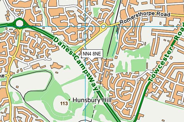 NN4 8NE map - OS VectorMap District (Ordnance Survey)