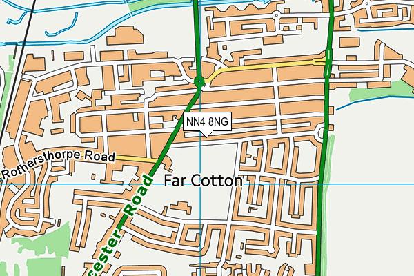 NN4 8NG map - OS VectorMap District (Ordnance Survey)