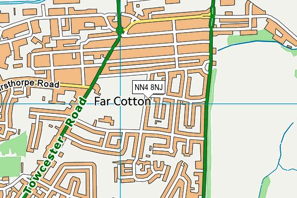 NN4 8NJ map - OS VectorMap District (Ordnance Survey)