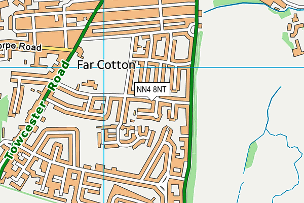 NN4 8NT map - OS VectorMap District (Ordnance Survey)