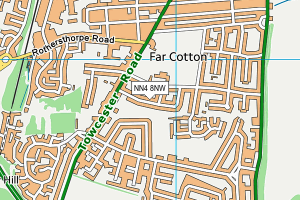 NN4 8NW map - OS VectorMap District (Ordnance Survey)