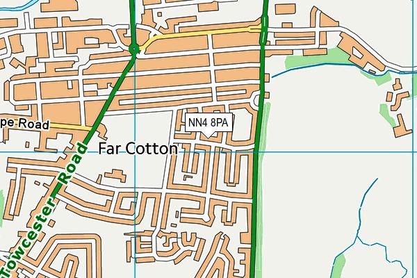 NN4 8PA map - OS VectorMap District (Ordnance Survey)
