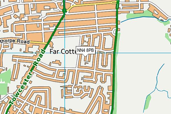 NN4 8PB map - OS VectorMap District (Ordnance Survey)
