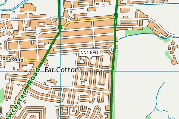 NN4 8PD map - OS VectorMap District (Ordnance Survey)