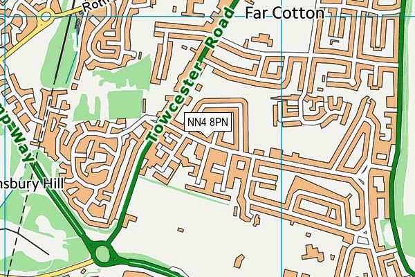 NN4 8PN map - OS VectorMap District (Ordnance Survey)