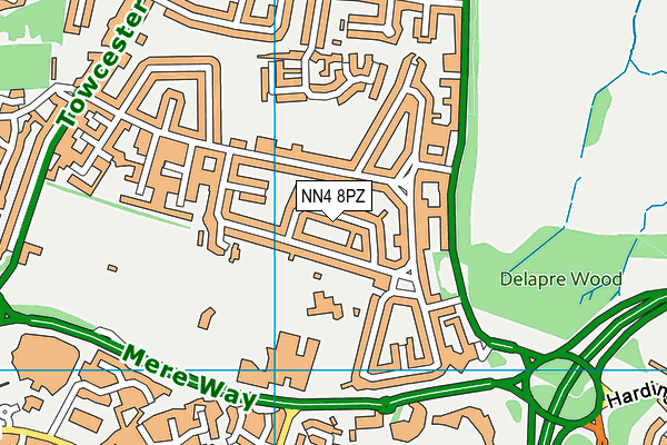 NN4 8PZ map - OS VectorMap District (Ordnance Survey)
