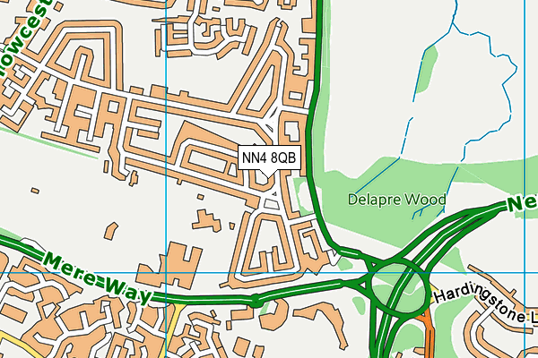 NN4 8QB map - OS VectorMap District (Ordnance Survey)