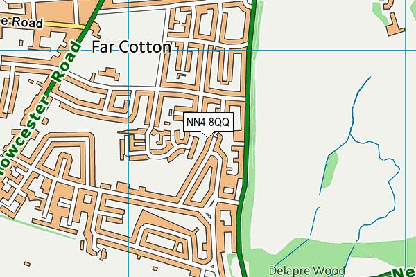 NN4 8QQ map - OS VectorMap District (Ordnance Survey)