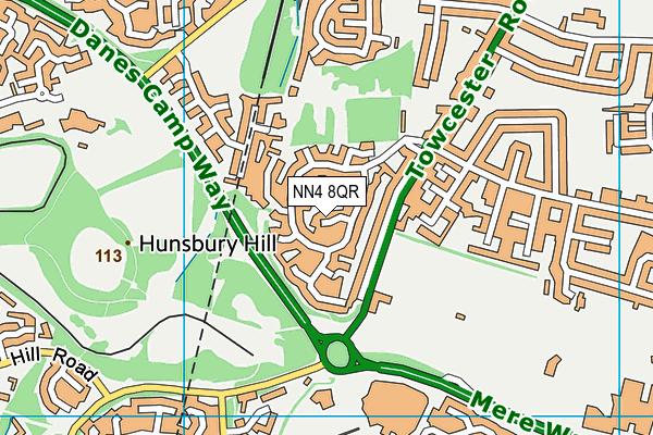 NN4 8QR map - OS VectorMap District (Ordnance Survey)
