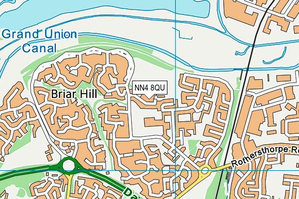 Briar Hill Playing Fields map (NN4 8QU) - OS VectorMap District (Ordnance Survey)