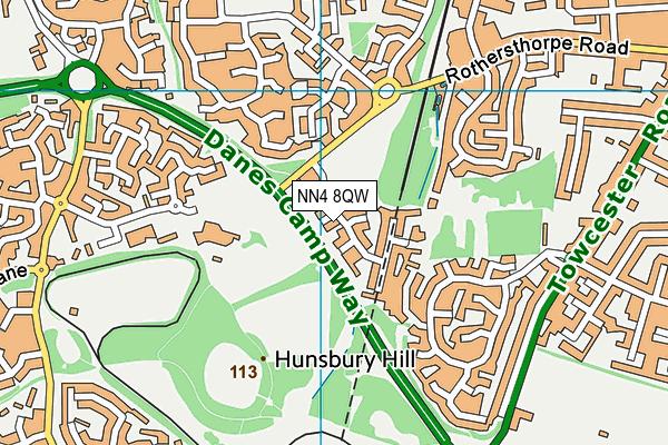 NN4 8QW map - OS VectorMap District (Ordnance Survey)