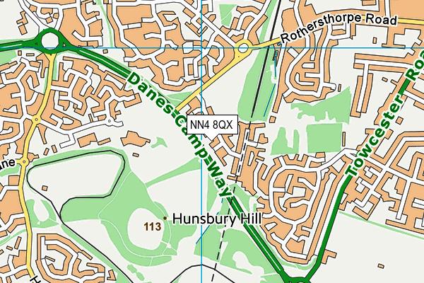 NN4 8QX map - OS VectorMap District (Ordnance Survey)