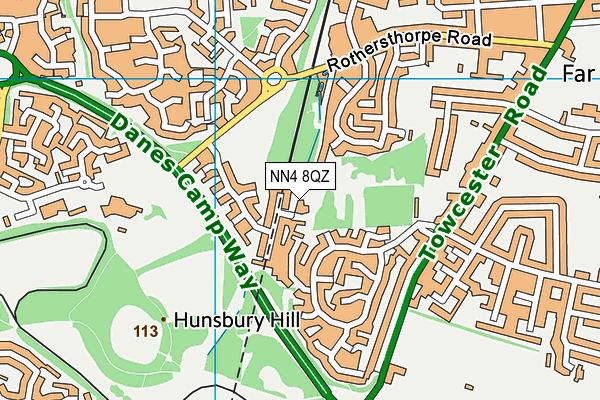 NN4 8QZ map - OS VectorMap District (Ordnance Survey)