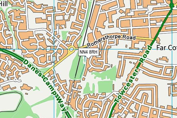 NN4 8RH map - OS VectorMap District (Ordnance Survey)