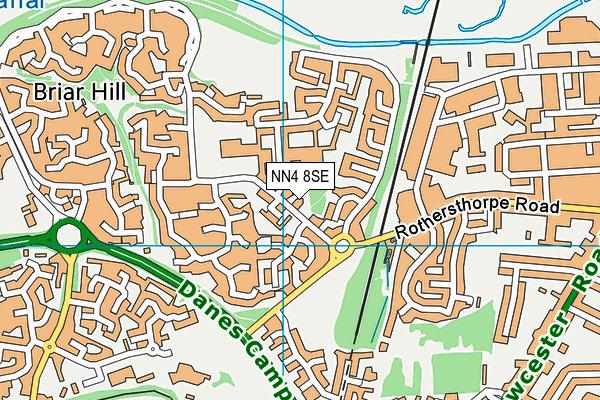 NN4 8SE map - OS VectorMap District (Ordnance Survey)