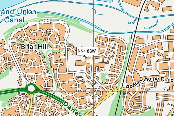 Briar Hill Primary School map (NN4 8SW) - OS VectorMap District (Ordnance Survey)