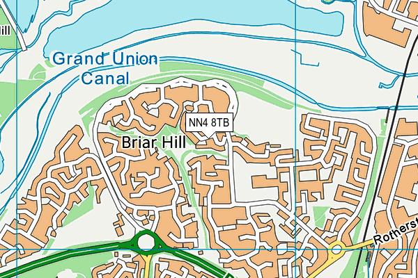 NN4 8TB map - OS VectorMap District (Ordnance Survey)