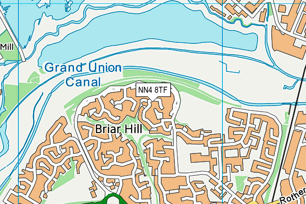 NN4 8TF map - OS VectorMap District (Ordnance Survey)