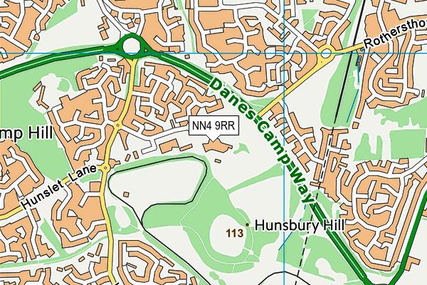 Hunsbury Park Primary School map (NN4 9RR) - OS VectorMap District (Ordnance Survey)