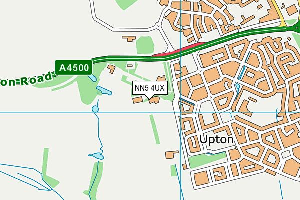 Quinton House School map (NN5 4UX) - OS VectorMap District (Ordnance Survey)