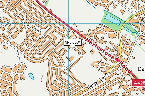 Chiltern Primary School map (NN5 6BW) - OS VectorMap District (Ordnance Survey)