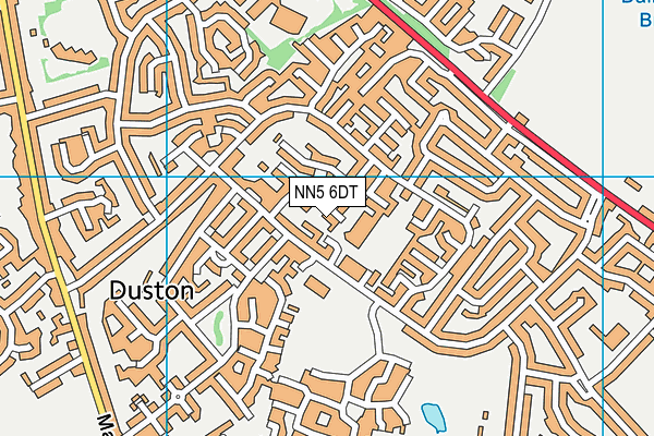 Hopping Hill Primary School map (NN5 6DT) - OS VectorMap District (Ordnance Survey)