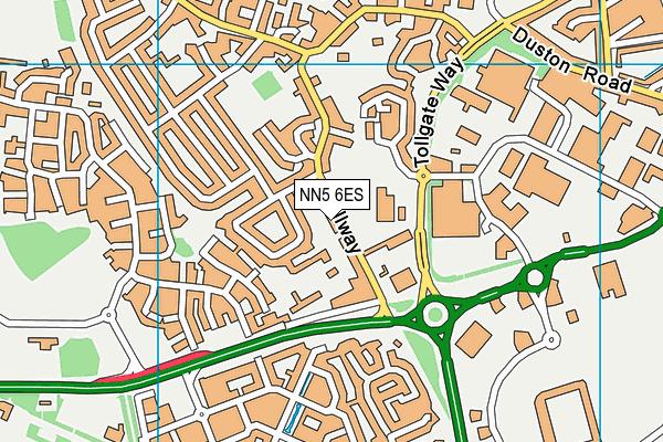 Millway Primary School map (NN5 6ES) - OS VectorMap District (Ordnance Survey)