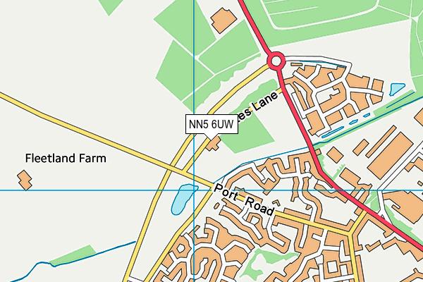 NN5 6UW map - OS VectorMap District (Ordnance Survey)