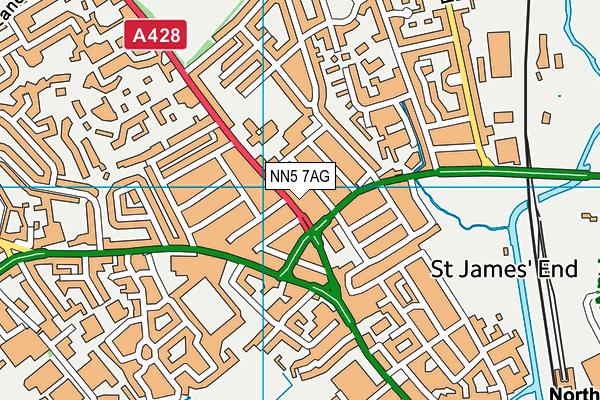 St James Church of England Primary School map (NN5 7AG) - OS VectorMap District (Ordnance Survey)