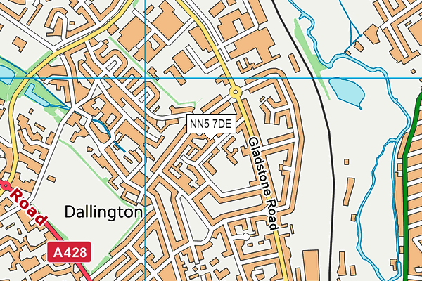 Camrose Early Years Centre for Children & Families map (NN5 7DE) - OS VectorMap District (Ordnance Survey)