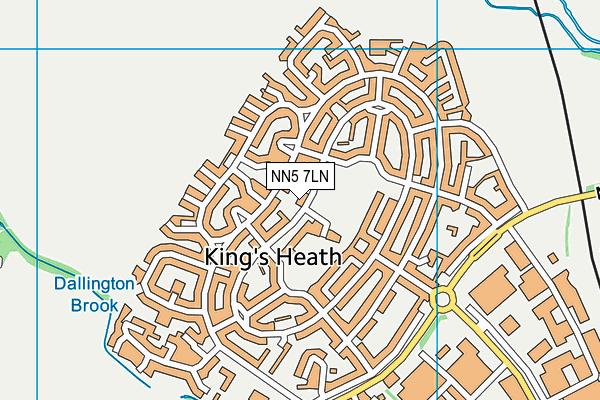 Kings Heath Primary Academy map (NN5 7LN) - OS VectorMap District (Ordnance Survey)