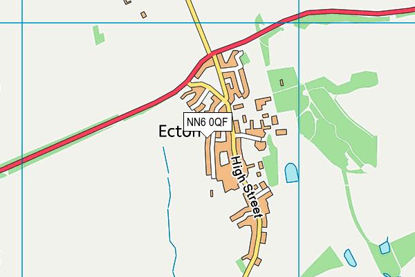 Ecton Village Primary School map (NN6 0QF) - OS VectorMap District (Ordnance Survey)