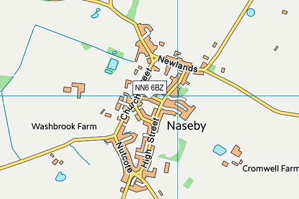 Naseby Church of England Primary Academy map (NN6 6BZ) - OS VectorMap District (Ordnance Survey)