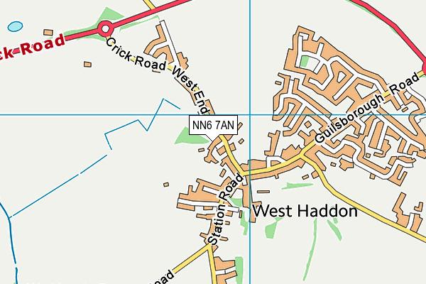 West Haddon Endowed Church of England Primary School map (NN6 7AN) - OS VectorMap District (Ordnance Survey)