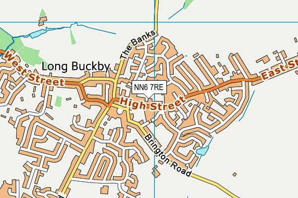 Long Buckby Infant School map (NN6 7RE) - OS VectorMap District (Ordnance Survey)